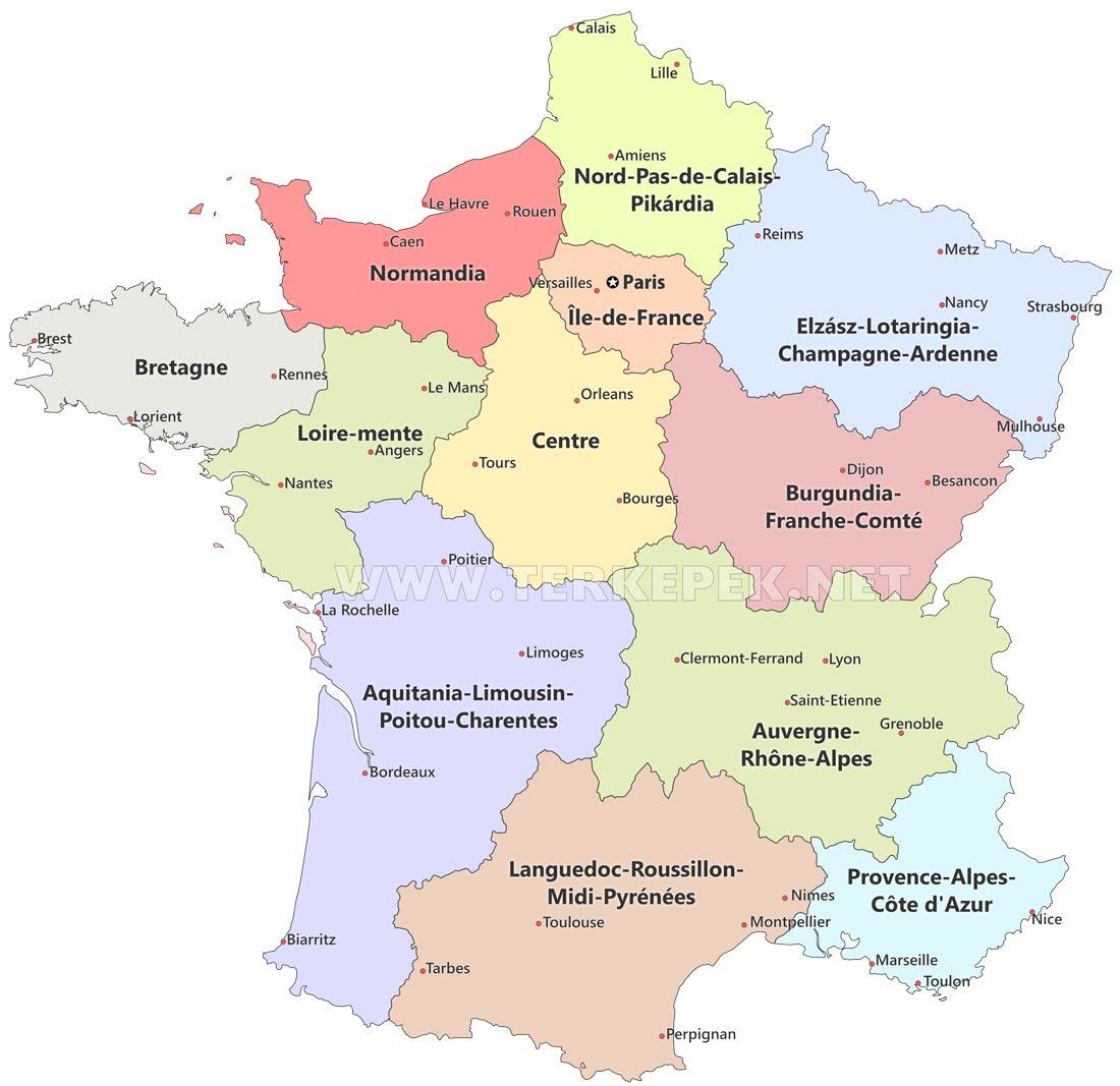 Franciaorszag Terkepek